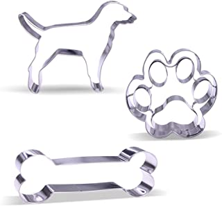 Large Dog Cookie Cutter Set – 3 Piece - Stainless Steel