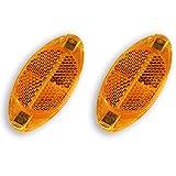 2x Reflectores Reflex para Radios de Rueda Bicicleta Naranja Vintage Retro 2905