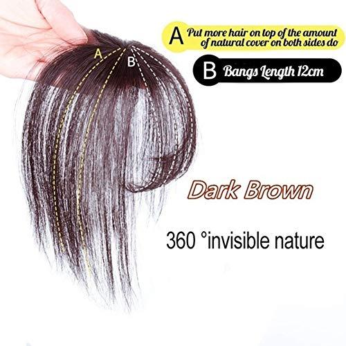 HshDUti Perruque De Mode Extension De Cheveux Postiche 3D Frange d'air Ultra-Mince sans Couture Faux Bang Couleur Naturelle