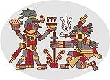 EW Designs Simple Ancient Mayan Aztec Chocolate Making Hieroglyphic Cartoon Vinyl Decal Bumper Sticker (8' Wide)