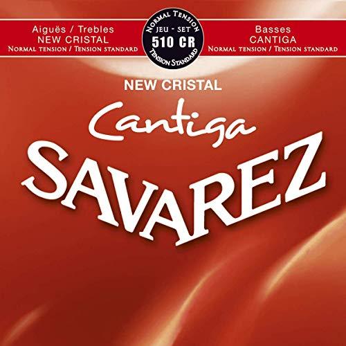 Savarez Cordes pour Guitare classique, New Cristal Cantiga 510CR tension standard rouge - Jeu