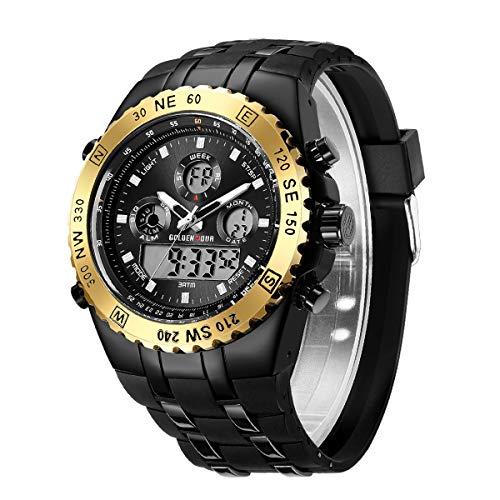 ChEETAH Reloj de Pulsera para Hombre, cronógrafo, Deportivo, Digital, analógico, con brújula Resistente al Agua, Fecha, retroiluminación, Relojes Militares para Hombre …