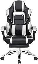 Danube Home Sparrow High Back Office Chair, Black/White - 67 x 71-132 x 115-123 cm