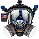 PD-100 Full Face Organic Vapor Respirator – Full Manufacturer Warranty – ASTM Certified – Double N95...
