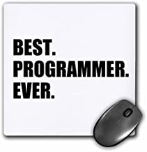 3dRose LLC 8 x 8 x 0.25 Inches Mouse Pad, Best Programmer Ever, Fun Gift for Talented Computer Programming, Text (mp_185015_1)