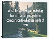 What Lies Behind You and in Front of You What Lies Inside You Ralph Waldo Emerson Compassion Gratitude Love Joy Faith Happiness Wood Wall Art Print Photo Image Decor