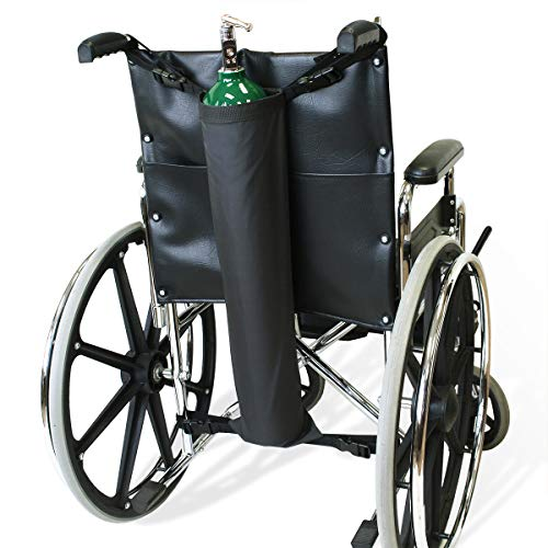 NYOrtho Oxygen Tank Holder for Wheelchair - E Cylinder Transport Bag Adjustable Straps Easy to Clean, Heavy Duty, Waterproof Standard Wheelchair Size