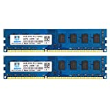 DDR3 1333MHz 8GB Kit (2x4GB) PC3 10600 10600U Unbuffered Non-ECC 1.5V CL9 2Rx8 Dual Rank 240 Pin UDIMM Memoria de Escritorio