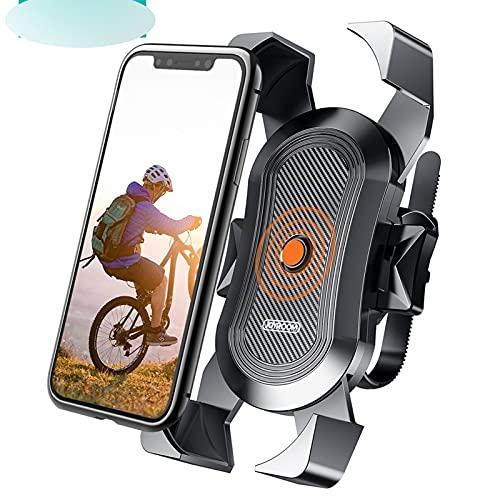 Soporte de teléfono para bicicleta universal para motocicleta, bicicleta, soporte para manillar, soporte de montaje para teléfono (color: negro)