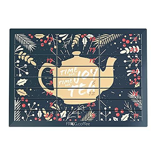 FROG.coffee Tee Adventskalender - 24 verschiedene Teebeutel