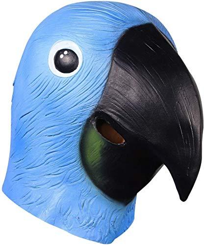 FXNB Halloween Requisiten Cosplay Kostüme Dekoration Niedlichen Vogel Maske Papagei Kopf Maske, Latex Tierkopf Maske