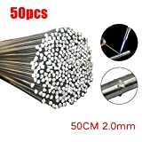 Alluminio, barre di saldatura in alluminio facile a bassa temperatura senza bisogno di saldatore a polvere per saldare (50, 2mm)