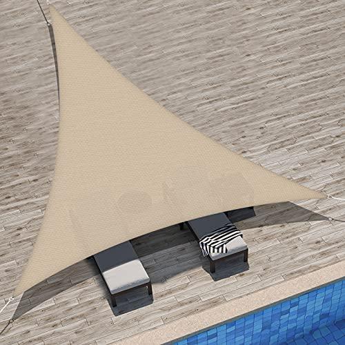 Velway Tenda a Vela Ombreggiante Triangolare 3x3x3m, Telo Parasole Tenda da Sole Esterno in Oxford...