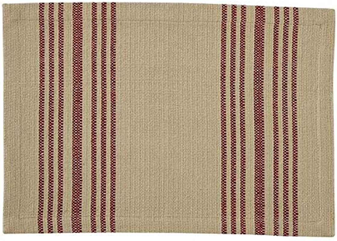Park Design Placemats Set Of 4 Rustic Stripe