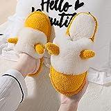 MLLM Padre-hijo bebé zapatillas de algodón lindo cuerna zapatos...