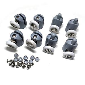 Rodamientos para mampara de ducha, 8 unidades, piezas de repuesto de 25mm de diámetro