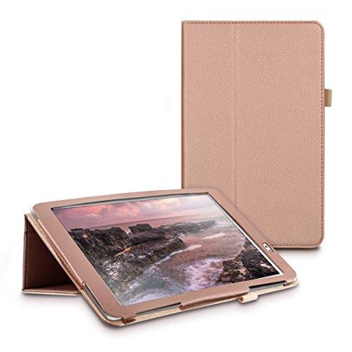 kwmobile Huawei MediaPad T1 10 Hülle - Tablet Cover Case Schutzhülle für Huawei MediaPad T1 10 - Rosegold mit Ständer - 5