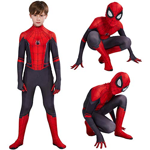 Aodai Kids Costume Compatible Superhero Costume -Suits Kids Halloween Cosplay Costumes 3D Style Red