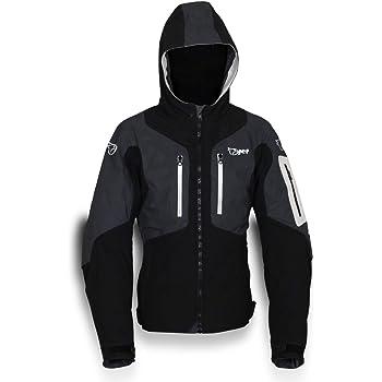JET Blouson Veste Moto Homme /à Capuche Soft Shell blind/é EU 60-62 Gris, 5XL