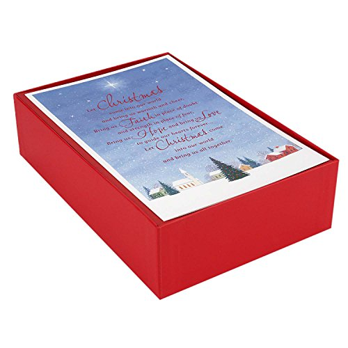 Hallmark Boxed Christmas Cards, Church Blessings (40 Cards and 40 Envelopes)