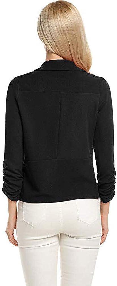 DEELIN Womens Clothes Sale Clearance Winter Long Sleeve 3//4 Sleeve Blazer Open Front Cardigans Suit Turn Down Collar Jacket Work Office Ladies Coats