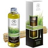 Difusor de Lemongrass 100ml con 8 Palos de Ratán y Recarga Difusor Natural Lemongrass 200ml - Intensivo - Fragancia Fresca y de Larga Duración - 0% Alcohol
