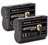 PATONA Protect V1 (2X) EN-EL15c Akku (2250mAh) kompatibel mit Nikon Z5 Z6 II Z7 II etc.