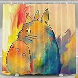 Brandless Mein Nachbar Totoro Bad VorhäNge DuschvorhäNge Wasserdicht Polyester Blackout VorhäNge Fenster Kinder Waschraum Duschvorhang-B180xH180cm