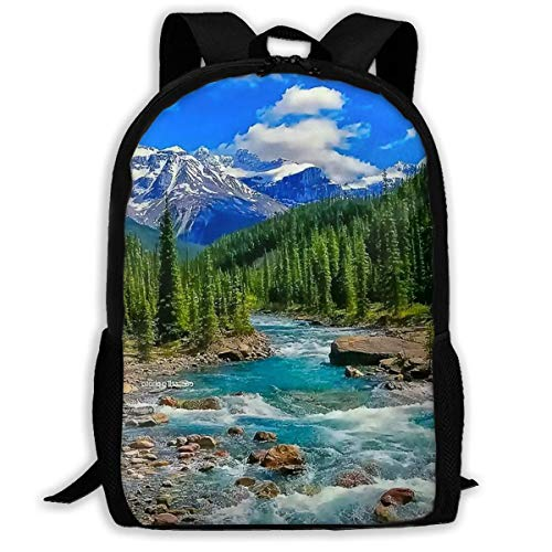 Wobuzhidaoshamingzi schoolrugzak Mooie landschappen en bloemen Bookbag Casual Travel Bag voor Teen Boys Girls