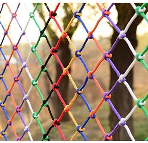 MuMa Red De Protección para Niños, Red De Seguridad De Nailon De Colores, Red De Balcón, Red De Seguridad para Escaleras, Decoración De Techo, Red De Partición(Size:4 * 6M(13 * 20ft))