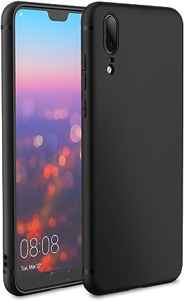 EasyAcc Huawei P20 Custodia in TPU Nero Opaco, Morbido TPU Custodia Cover Slim Anti Scivolo Custodia Protezione Posteriore Cover Antiurto per Huawei P20 5.8''