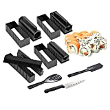 DIY SUSHI MAKING KIT for beginners|tutorials step by step|11 pieces with 4 Sushi Rice Roll Mold Shapes|EASY.FUN.HOMECOOKING SUSHI