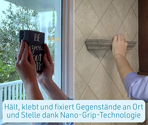 Mediashop Hammersmith Monster Tape, Nano-Grip-Technologie - Mikroskopisch kleine Saugnäpfe Sorgen für monsterstarken Halt, wiederverwendbar, Wasser- und wetterfest, funktioniert ohne Klebstoff - 3