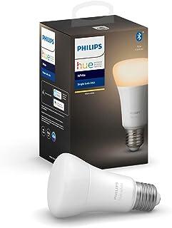 Philips Hue Philips E27 Hue White LED Smart Bulb, Bluetooth & Zigbee Compatible (Hue Hub Optional), Compatible with Alexa...