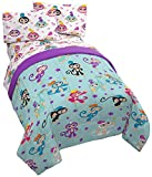 Fingerlings Monkey Around 4 Piece Twin Bed Set - Includes Comforter & Sheet Set - Super Soft Fade Resistant Polyester - (Official Fingerlings Product)