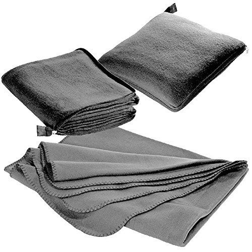 XL Fleecedecke und Kissen in einem, grau, ca. 180x120 cm