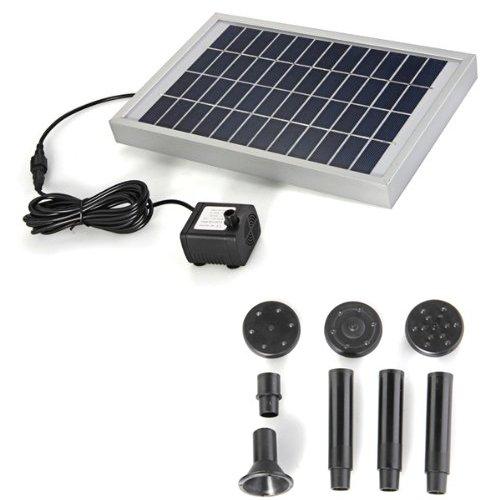 Bomba Agua Panel Energía Solar para Fuente Estanque 12V 380L/H