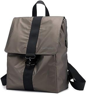 Zaino Zaino Grande capacità Idrorepellente Nuovi Uomini di Zaini Spalla Casuale Bag (Color : Khaki, Size : 16 Inches)