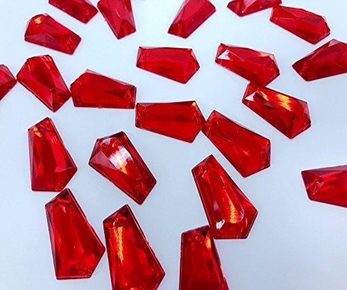 14 x 23 mm coudre en rouge en acrylique en forme de Alien Strass Plat Strass Diamant cousues à la main Pierre 100 pcs/sac