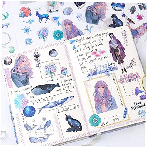 6sheets/pack Sea Animal Stickers for Party Favors and Scrapbooks Cute Ocean Whale Stickers for Kids Diary Scrapbooking Photo Ablums