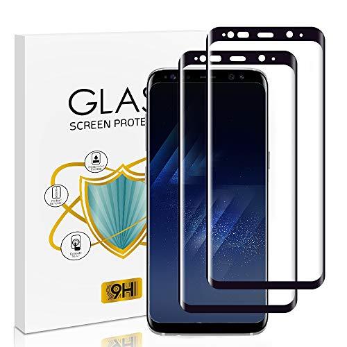 wsky Panzerglas Schutzfolie Kompatibel mit Samsung Galaxy S8, 9H Härte, Anti-Kratzen, Bläschenfrei, HD-Klar Panzerglasfolie Displayschutzfolie für Samsung S8-2 Stück