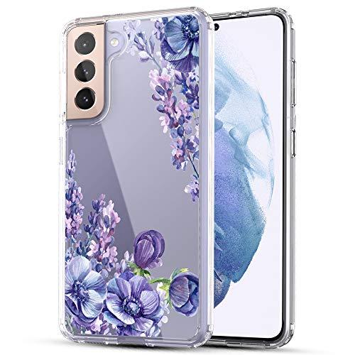RANZ Schutzhülle für Samsung Galaxy S21 5G (15,7 cm / 6,2 Zoll), kratzfest, stoßfest, transparent