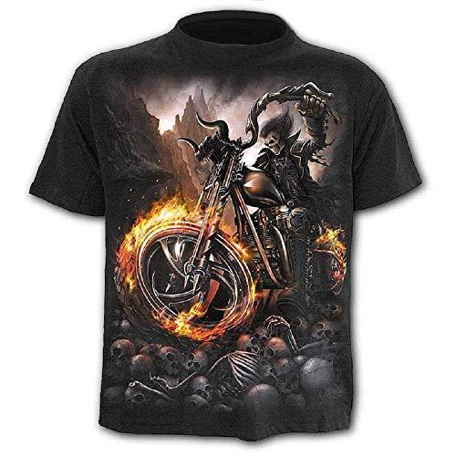 Camiseta - Camiseta - Camisa de Calavera - Steampunk - gótico - Ciclistas - - 3D - Manga Corta - Hombre - Mujer - Unisex - Divertido - Regalo - Cosplay - Talla s - c011