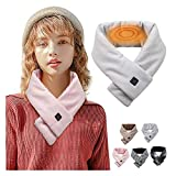 Heated Scarf, Adjustable Heating Scarf USB Heated Scarfs for Women Rechargeable Thermal Neck Gaiter for Winter (One Size, Beige)