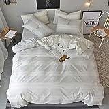 OREISE Duvet Cover Set King Size 100% Cotton...