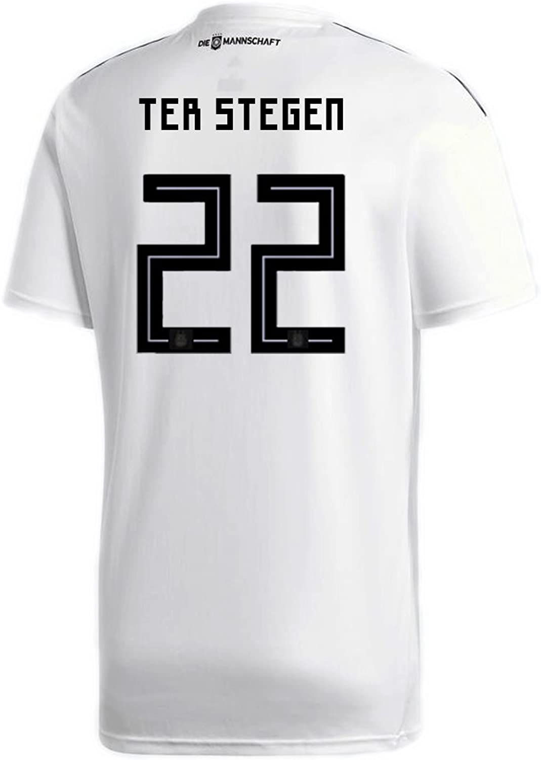 Adidas TER STEGEN   22 Germany Home Soccer Stadium Jersey World Cup Russia 2018