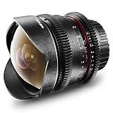 Walimex Pro 8 mm f/3,8 Fish-Eye Foto und Videoobjektiv (manuelle Fokussierung) für Canon...