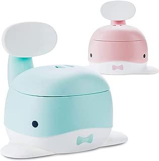 Bledyi Pot de toilette pour b/éb/é avec brosse de nettoyage incurv/ée pour gar/çons et filles