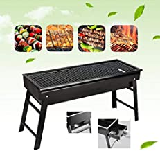 BBQ Grill,Portable BBQ Charcoal Grill Foldable BBQ Tool Kits,Charcoal Barbecue Grill Smoker Gril for Outdoor Cooking Camping Hiking Picnics