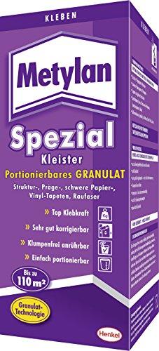 Metylan MS8G Spezial Kleister, portionierbares Granulat für Struktur, Präge, schwere Papier, Vinyl-Tapeten und Raufaser